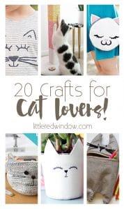 20 Crafts for Cat Lovers!   littleredwindow.com