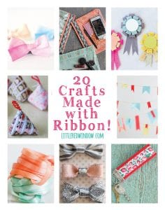 20 Crafts Made with Ribbon! | littleredwindow.com