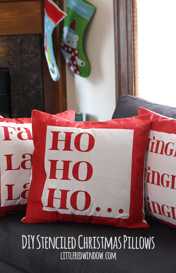 Cute DIY Christmas Pillow Covers | littleredwindow.com