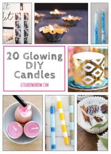 20 Glowing DIY Candles you can make!   littleredwindow.com