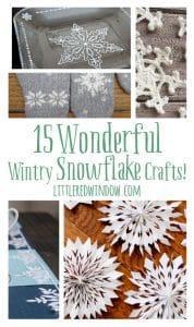 15 Wonderful Wintry Snowflake Crafts!   littleredwindow.com