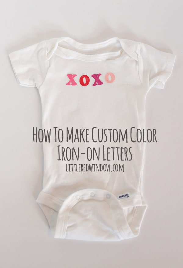 how to make custom color iron on letters littleredwindowcom customize store