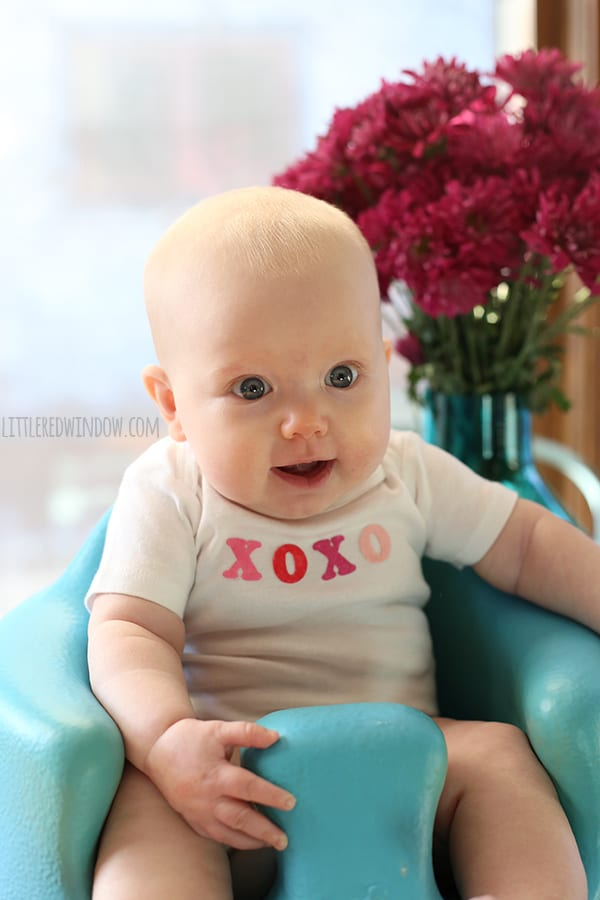 How To Make Custom Color Iron-On Letters | littleredwindow.com | Customize store bought iron-on letters to make a cute Valentine's Day Onesie!