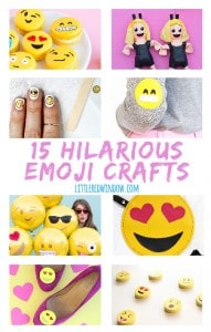 15 Hilarious and Clever Emoji Crafts!   littleredwindow.com