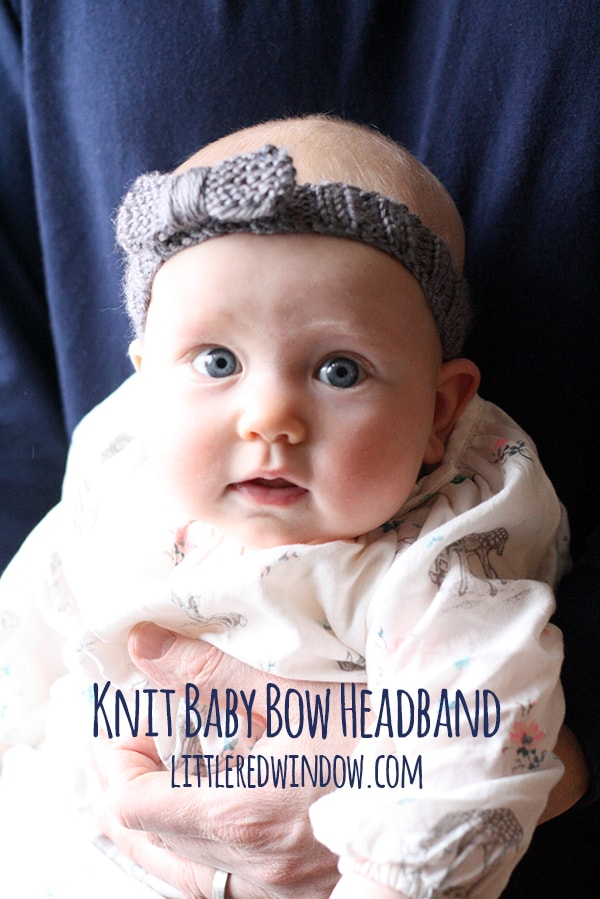Knit Bow Baby Headband - Little Red Window