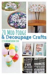 20 of the very best Mod Podge and Decoupage Craft Projects out there! | littleredwindow.com