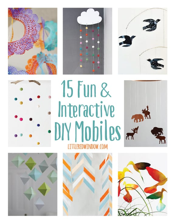 15 Fun and Interactive DIY Nursery Mobiles | littleredwindow.com