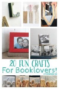 20 Fun Crafts for Book Lovers!   littleredwindow.com