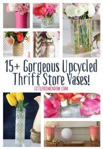 15+ Gorgeous Upcycled Thrift Store Vases!   littleredwindow.com