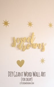Make your own DIY Gian Word Wall Art (for super cheap!) | littleredwindow.com