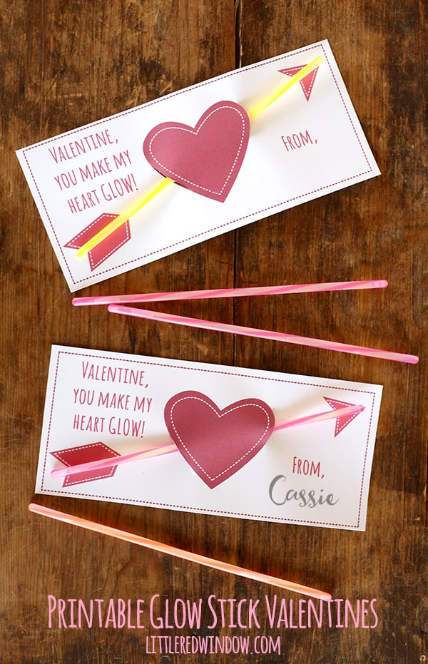 glowstick valentines and more! |Pinterest Glow Stick Valentines