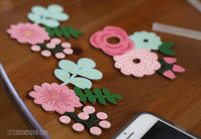 DIY Spring Flower Wreath | littleredwindow.com
