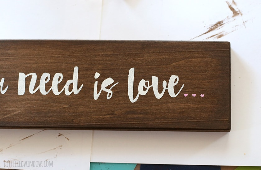 DIY Handpainted Wood Sign | littleredwindow.com