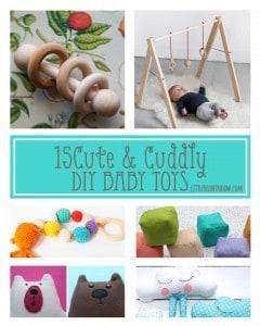 15 Cute and Cuddly DIY Baby Toys!   littleredwindow.com