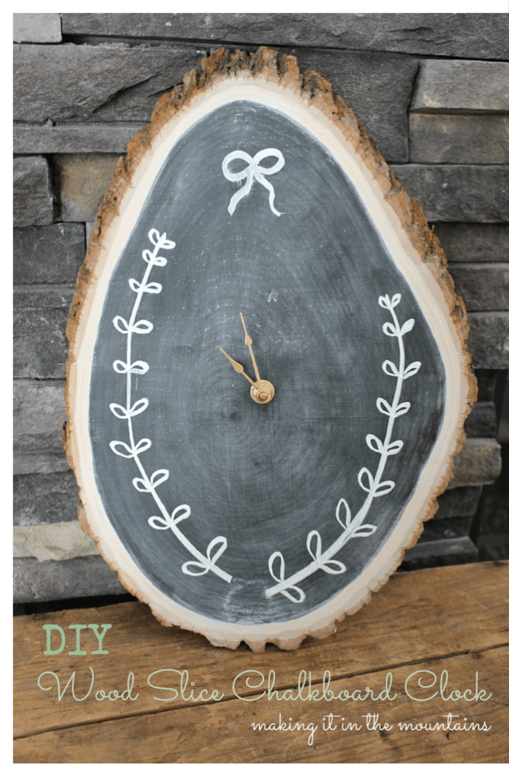 diy-wood-slice-chalkboard-clock-making-it-in-the-mountains