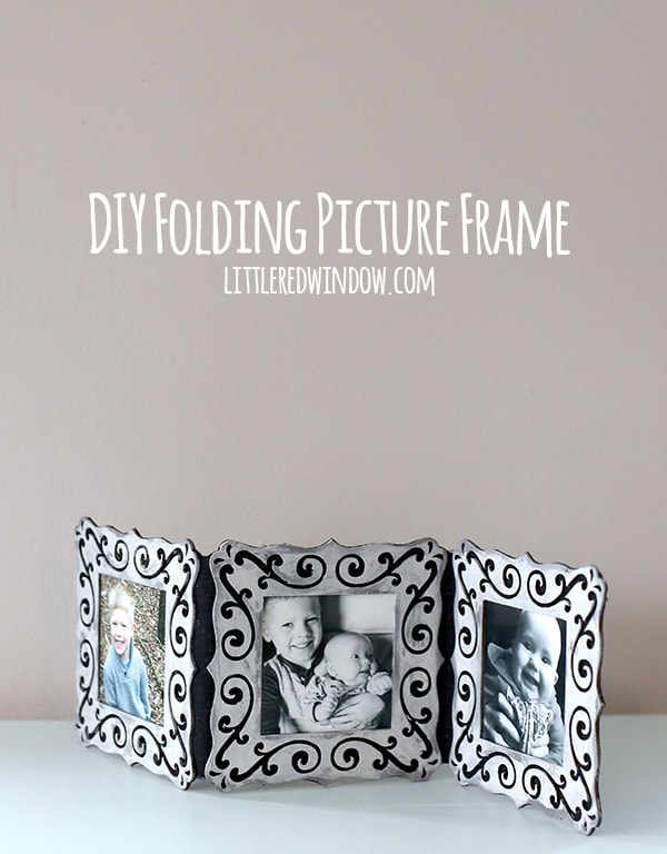 make your own adorable folding picture frame to display your favorite snapshots littleredwindow