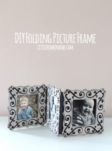 Make your own adorable folding picture frame to display your favorite snapshots! | littleredwindow.com