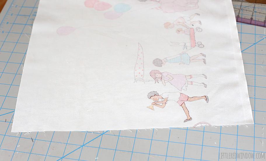 Simple DIY Fabric Nursery Wall Hanging   littleredwindow.com