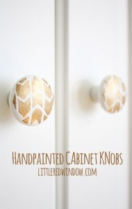 Handpainted Cabinet Knob Tutorial! | littleredwindow.com