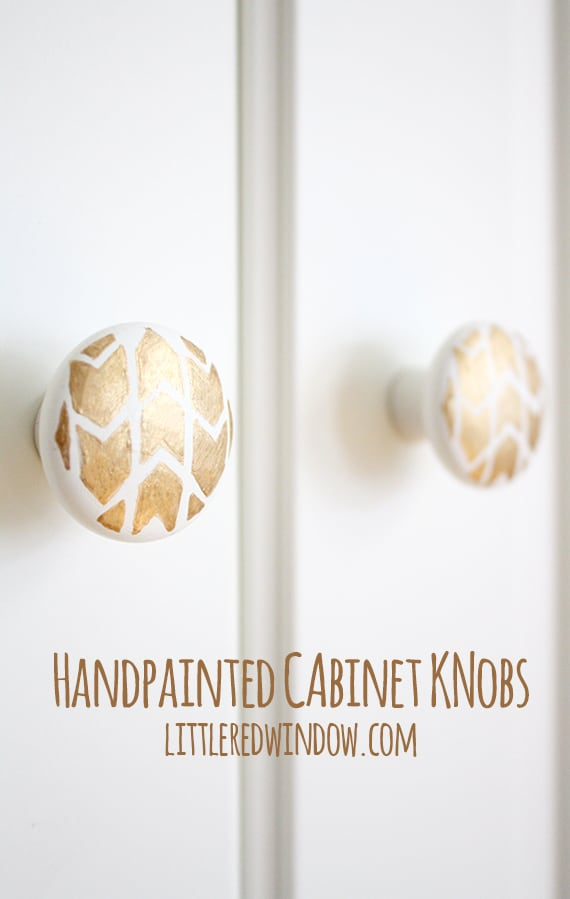 Handpainted Cabinet Knob Tutorial! | littleredwindow.com