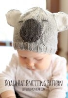 small koala_bear_hat_knitting_pattern_01_littleredwindow