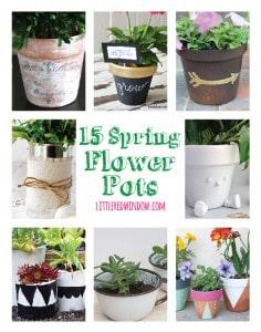 15 DIY Spring Flower Pot Crafts!   littleredwindow.com