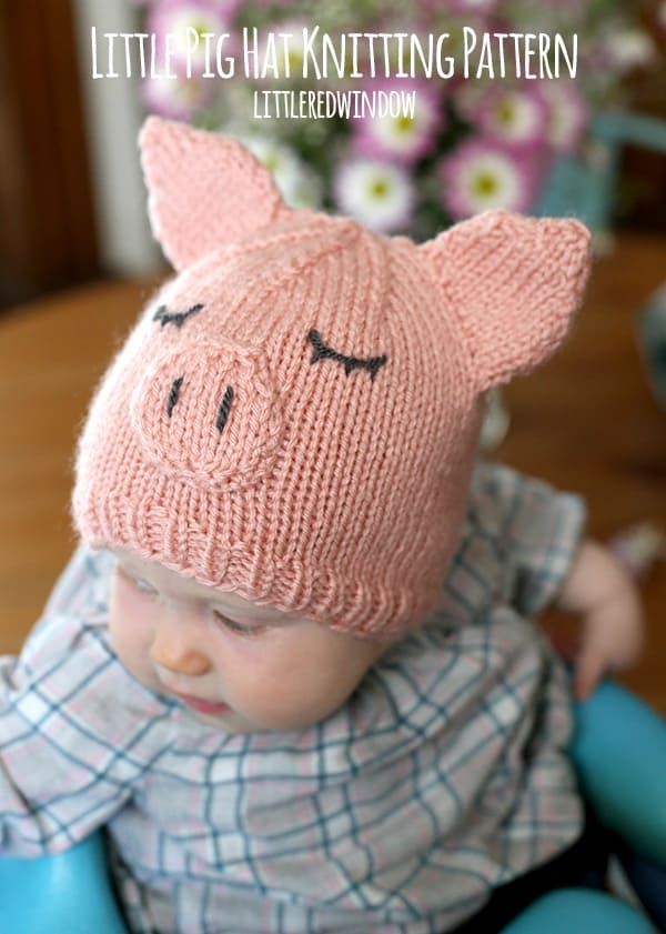 Little Pig Hat Knitting Pattern - Little Red Window
