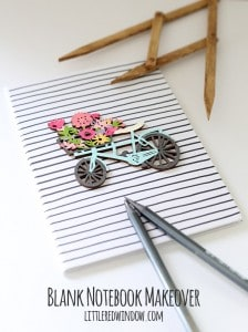 Crafty Blank Notebook Makeover! | littleredwindow.com