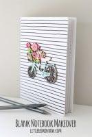 Crafty Blank Notebook Makeover! | littleredwindow.com