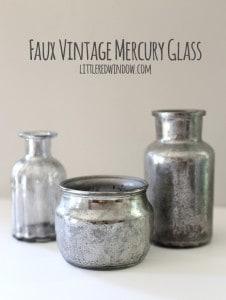 DIY Faux Vintage Mercury Glass tutorial! | littleredwindow.com