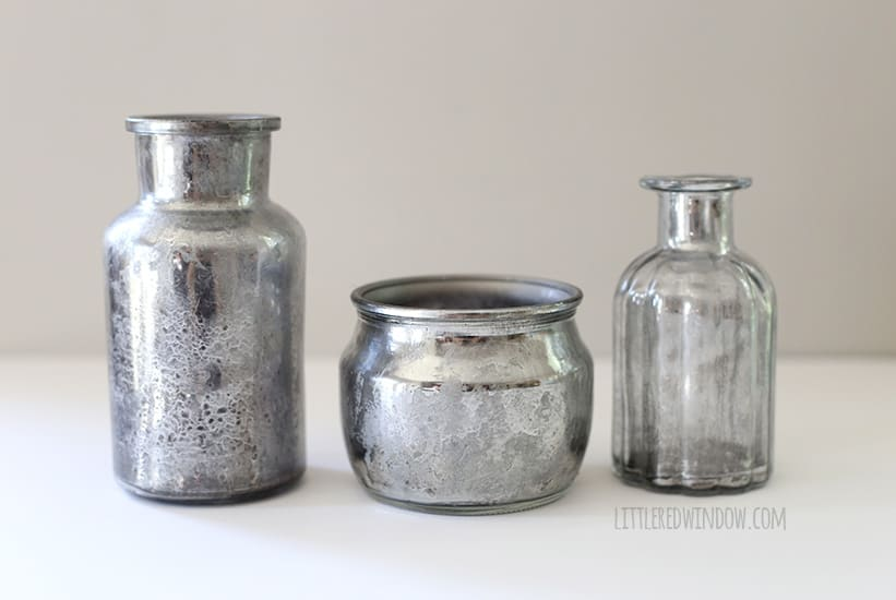 DIY Faux Vintage Mercury Glass tutorial! | littleredwindow.com