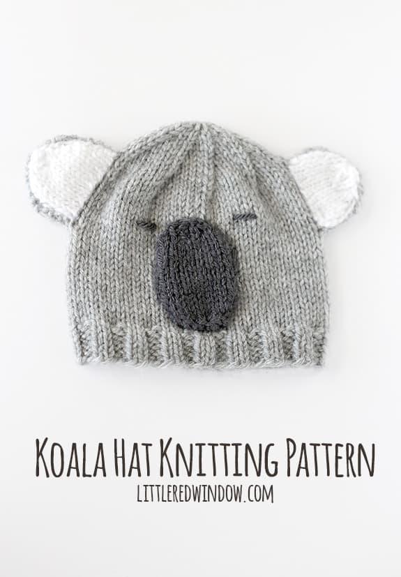 Koala Hat Knitting Pattern Free : Cuddly Koala Hat Knitting Pattern - Page 2 of 2 - Little ...