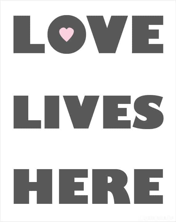 LoveLives Here Free Printable from littleredwindow.com!