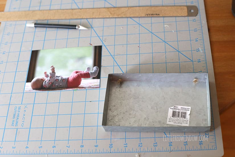 DIY Industrial Galvanized Metal Hanging Picture Frame! | littleredwindow.com