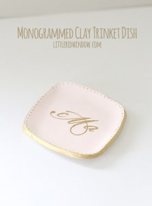 Monogrammed Clay Trinket Dish | littleredwindow.com