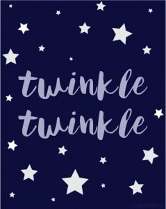 Free Twinkle Twinkle Little Star Printable Art!