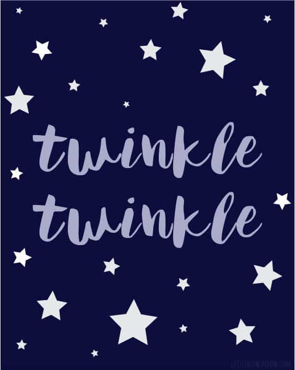 Free Twinkle Twinkle Little Star Printable Art!