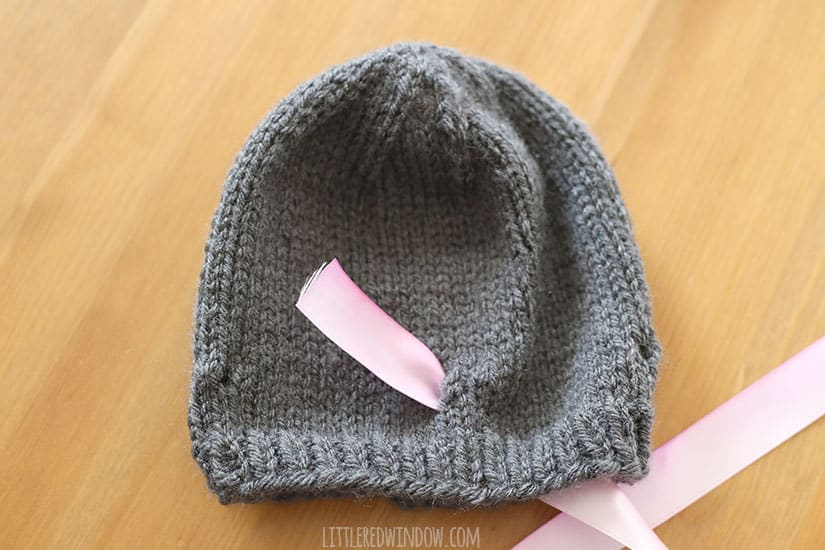 Knitted Bow Pattern : Watercolor Bow Hat Knitting Pattern - Little Red Window