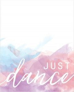 Just Dance Free Printable Print! | littleredwindow.com