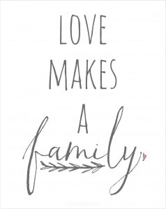 Love Makes a Family Free Printable! | littleredwindow.com