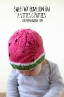 small watermelon_hat_kids_baby_knitting_pattern_03_littleredwindow