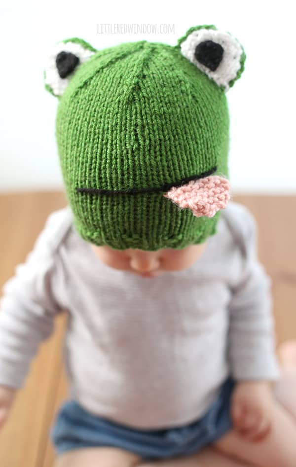 Funny Frog Hat Knitting Pattern - Little Red Window