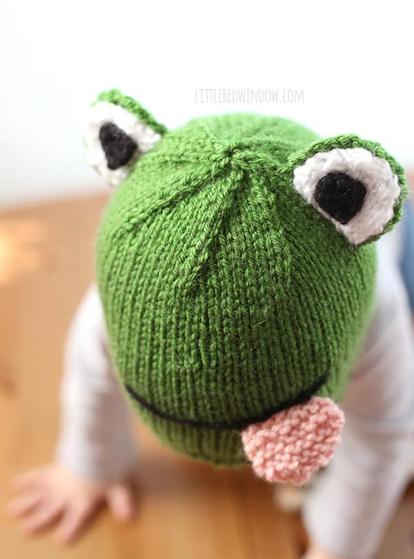 Knitted Frog Pattern : Funny Frog Hat Knitting Pattern - Little Red Window