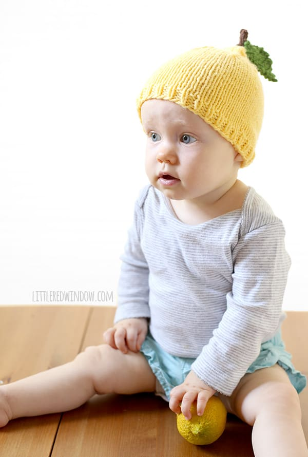 Little Lemon Hat Knitting Pattern for Babies! | littleredwindow.com