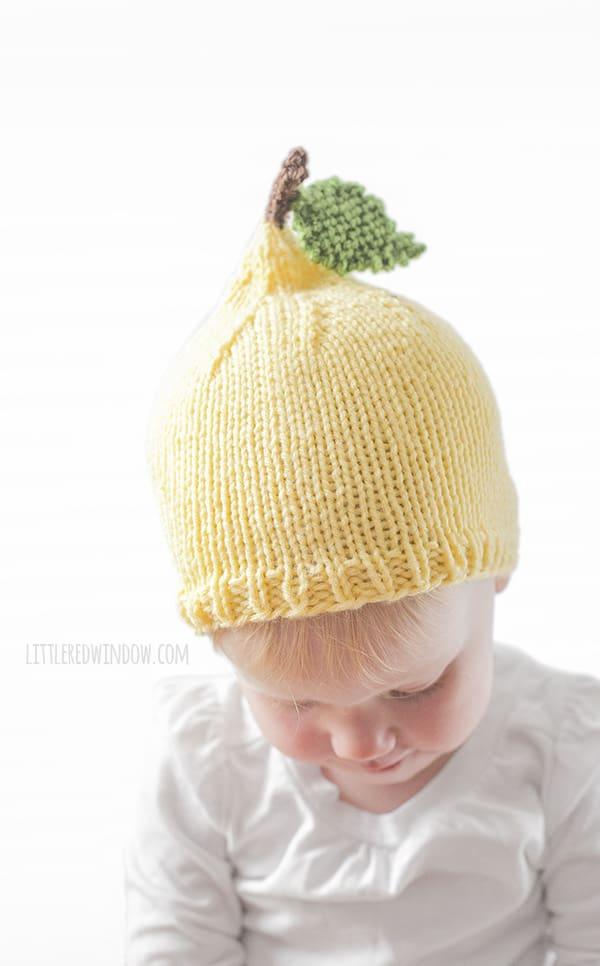 Little Lemon Hat Knitting Pattern for Babies! | littleredwindow.com