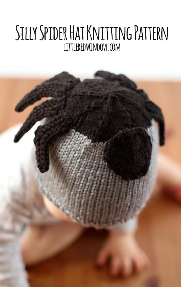Silly Spider Hat Free Knitting Pattern! | littleredwindow.com
