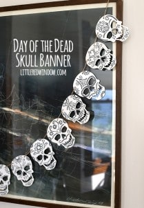 Fun DIY Day of the Dead Skull Banner Tutorial! | littleredwindow.com