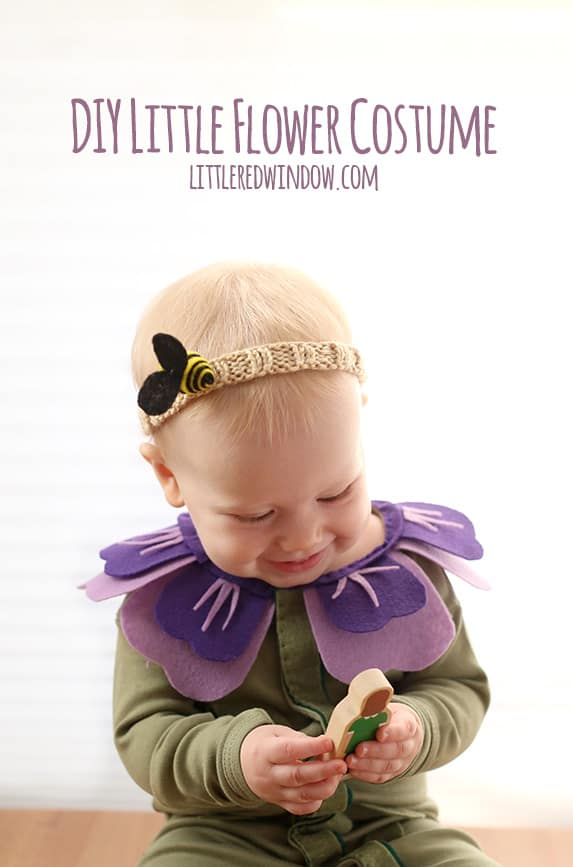 DIY Flower Costume and Bee Headband, so perfect for Halloween! | littleredwindow.com