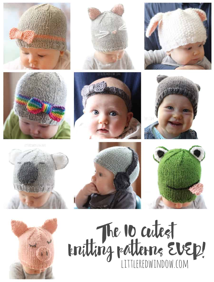 The 10 Cutest and Most Popular Knitting Patterns of the year! | littleredwindow.com