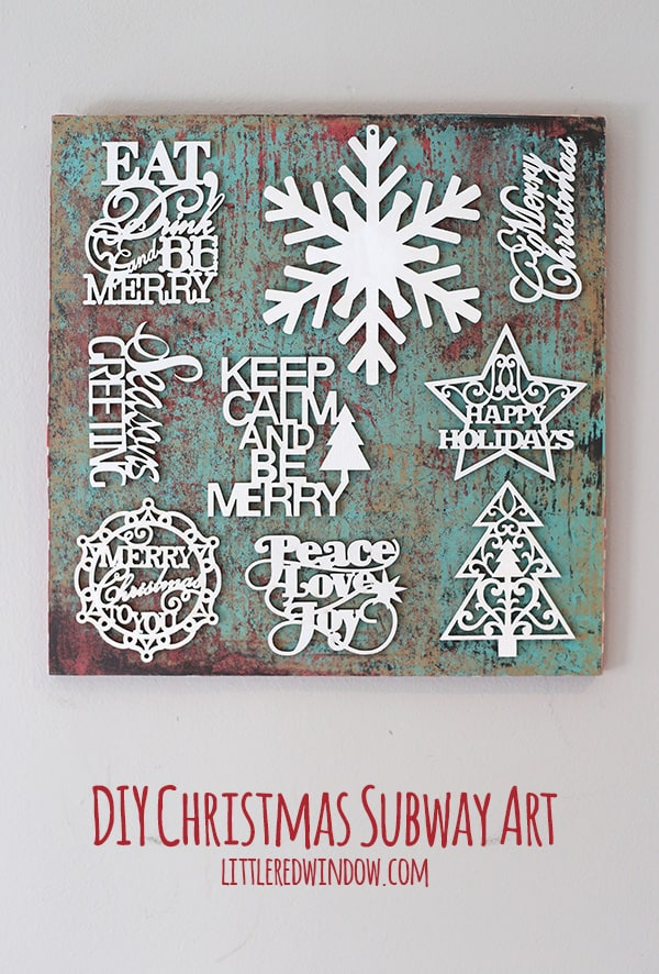 Easy Christmas Subway Art | littleredwindow.com